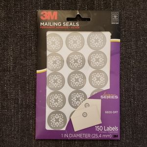 3/10🎈 3M Silver & White Mailing Seals